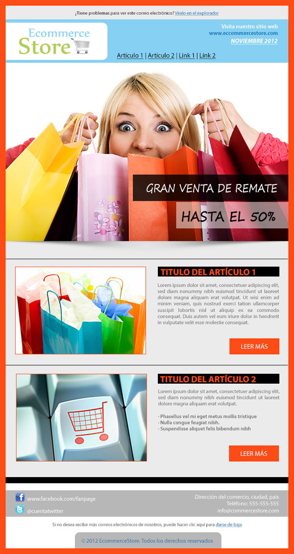 Introducing Ecommerce Store Newsletter Template