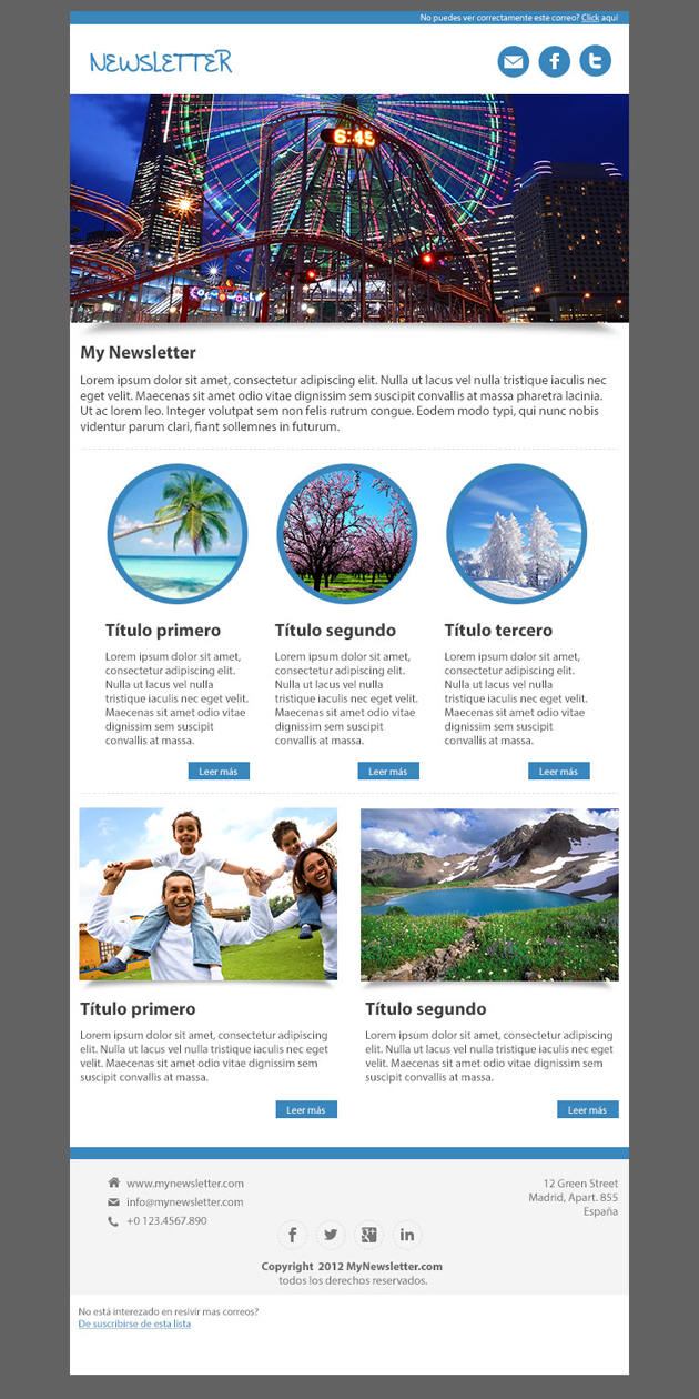Sphere Newsletter Template Html