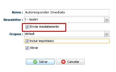 Configurando autoresponder 4