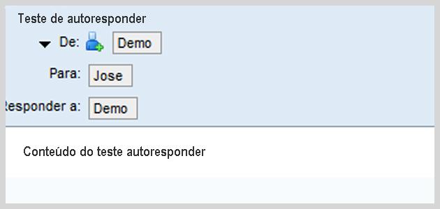Configurando autoresponder 9