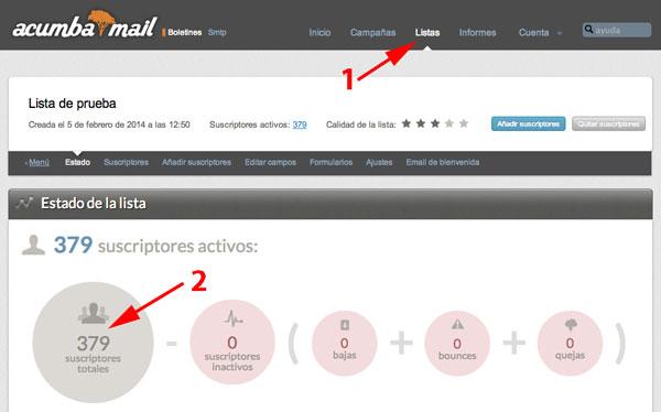 Acumbamail 2 mailrelay
