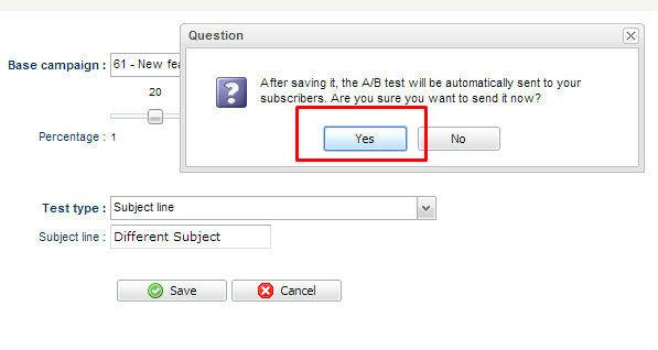 test AB en 5