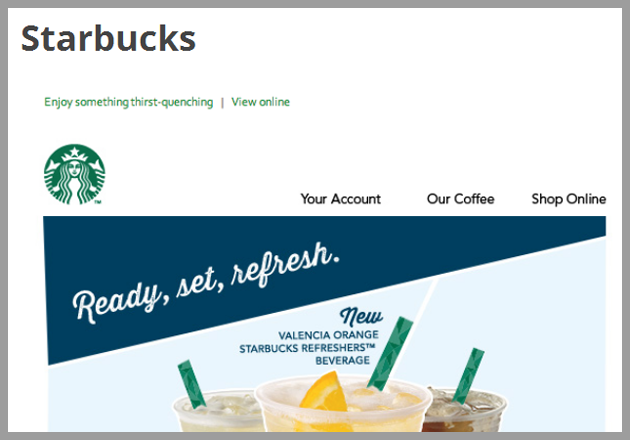 Plantilla de ejemplo de Starbucks