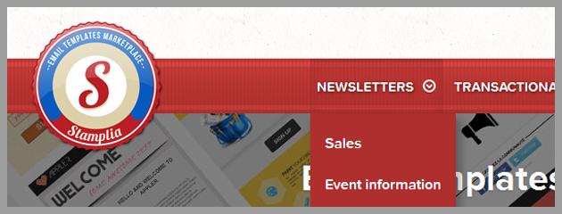 Plantillas de newsletters de Stamplia