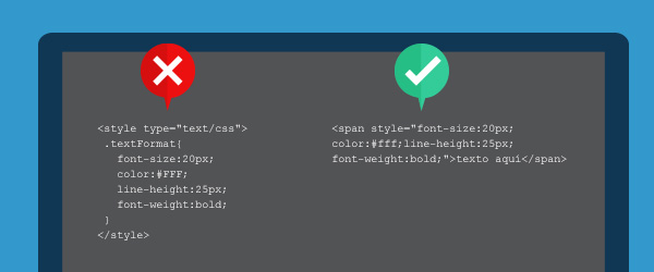 Codifica correctamente el estilo para evitar problemas en gestores de email