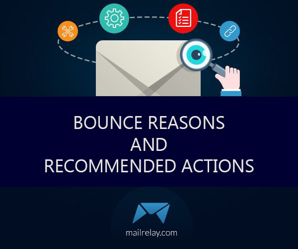 Bounce reasons and recommended actions