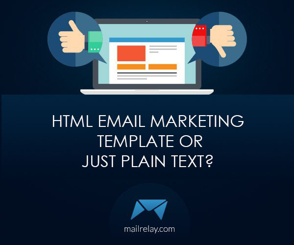 Html Email Marketing Template Or Just Plain Text