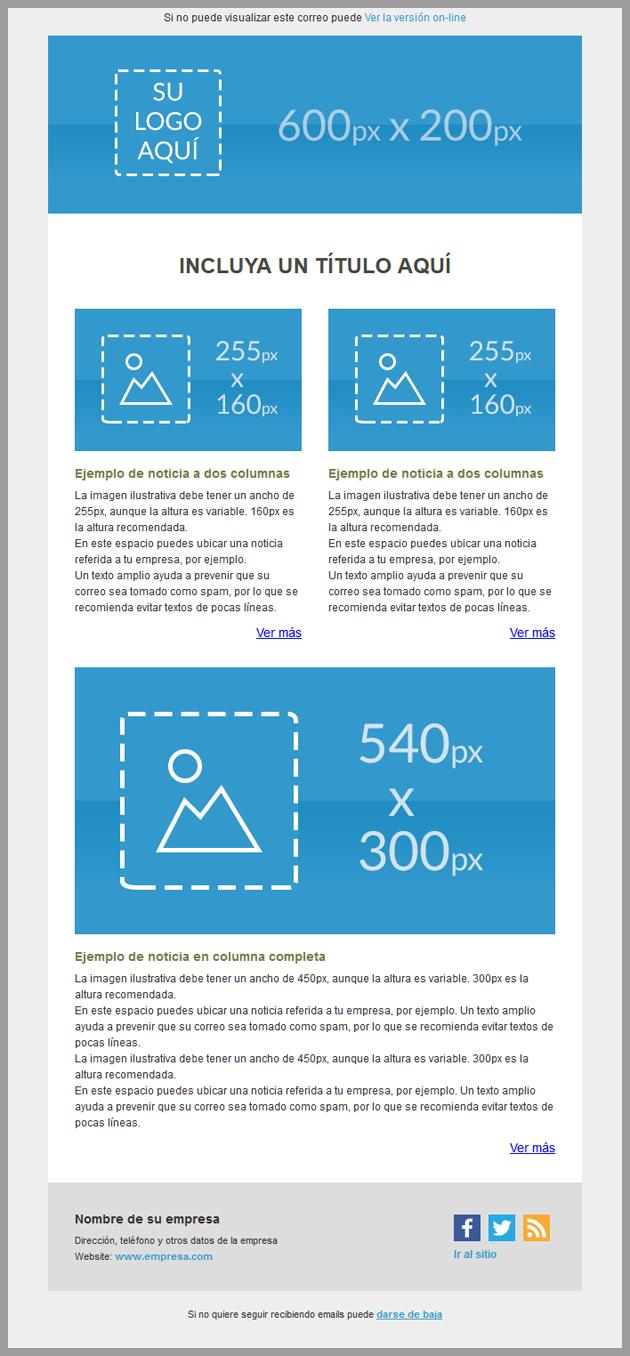 Nuevo diseño de email marketing en la sección de plantillas