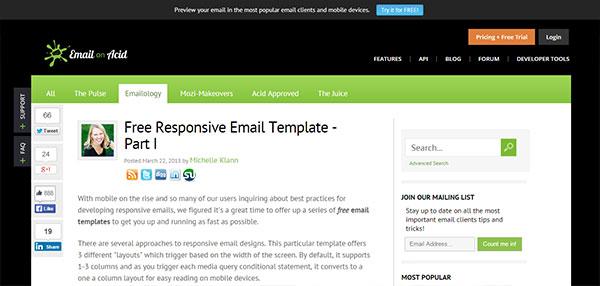 Dónde Conseguir Plantillas Html Gratis De Email Marketing - Email on acid templates