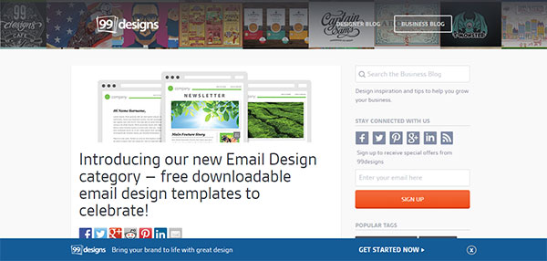 Templates para newsletter de 99 designs