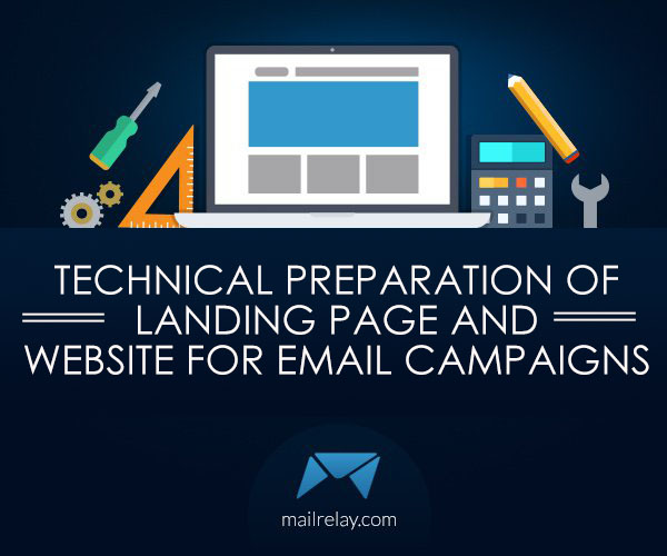 Technical preparation of landing page
