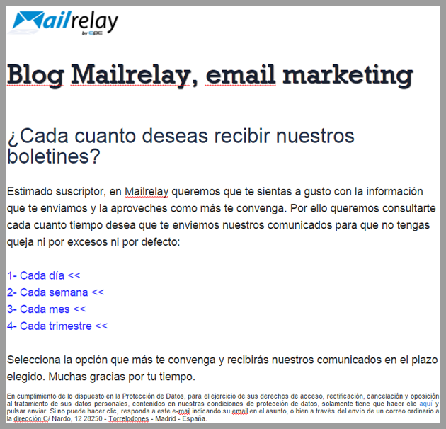 email marketing, segmentación por frecuencia
