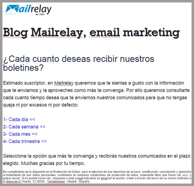 email marketing, segmentación por frecuencia