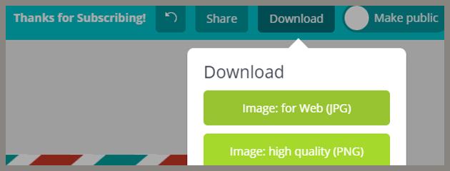 Entre los formatos a descargar desde Canva puedes elegir entre JPEG, PNG y PDF