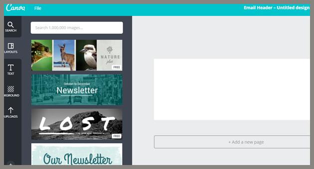 Editando nuestra cabecera de email con Canva