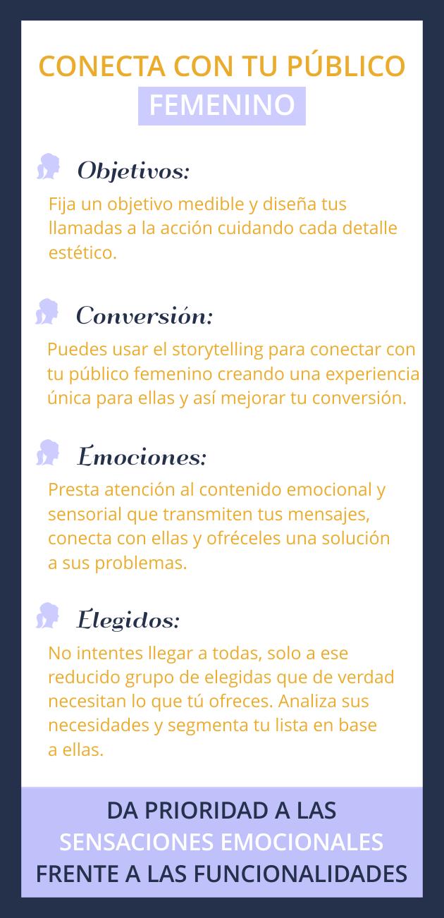 infografía conecta con tu público femenino