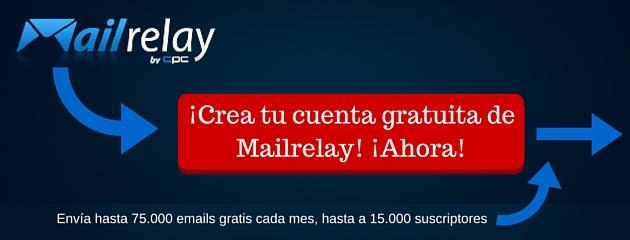 ¡Crea tu cuenta gratuita de Mailrelay! ¡Ahora!