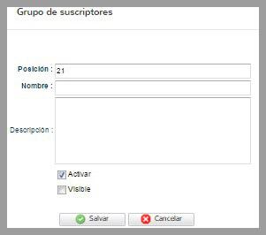 grupo de suscriptores