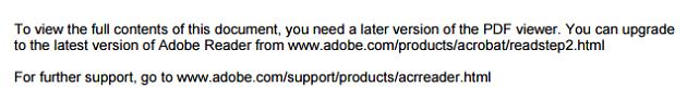 mensaje de error al abrir el pdf
