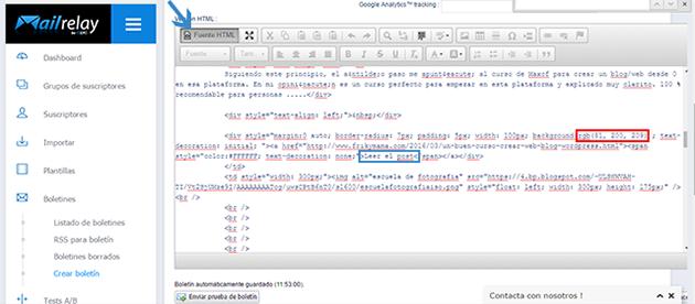 Cambiar código html del botón leer post