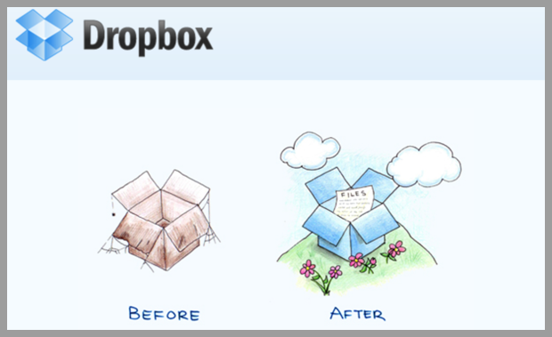 Email divertido de dropbox