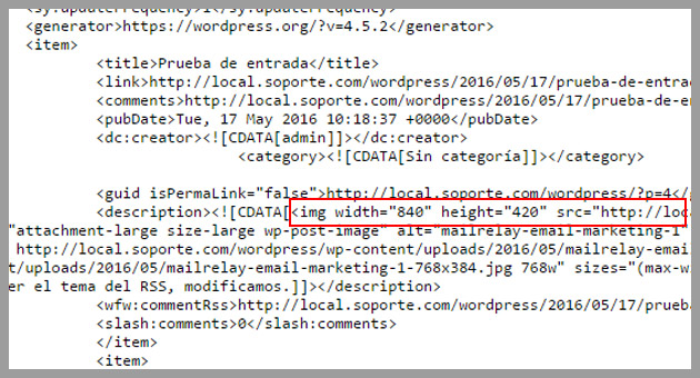 imagen destacada en html