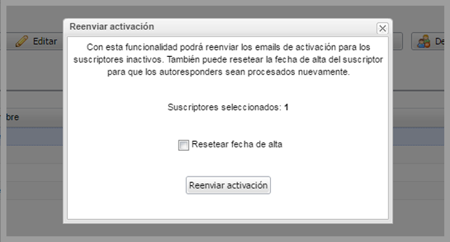 mailing a inactivos