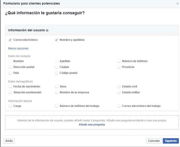 Así es Facebook leads