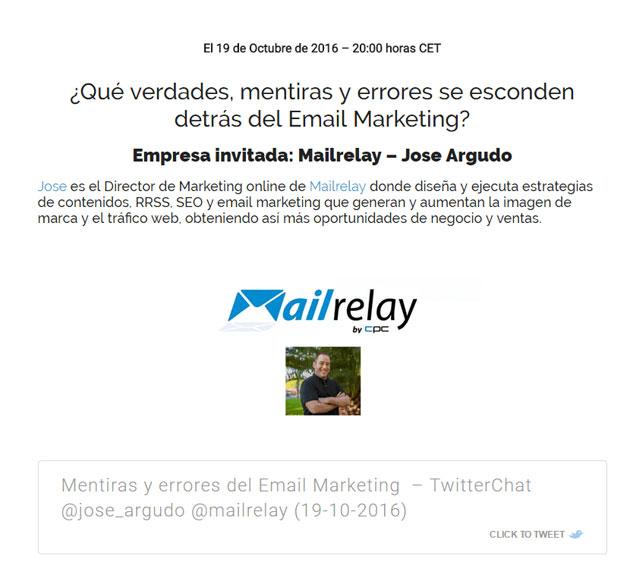 Twitter Chat con José Argudo