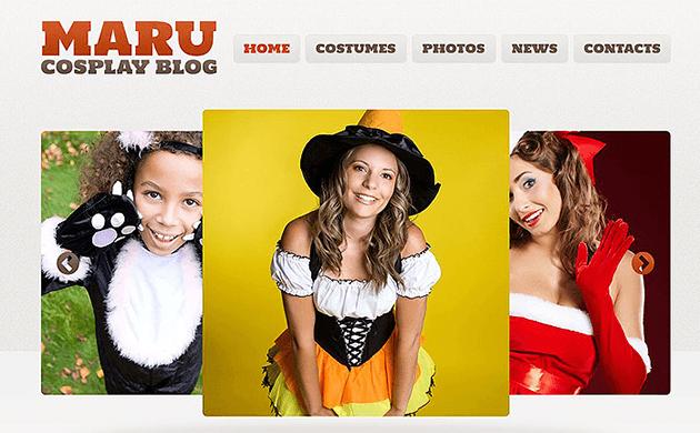 Tema Maru Cosplay para personalizar tu web