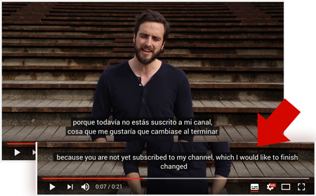 Vídeo de youtube con subtitulos