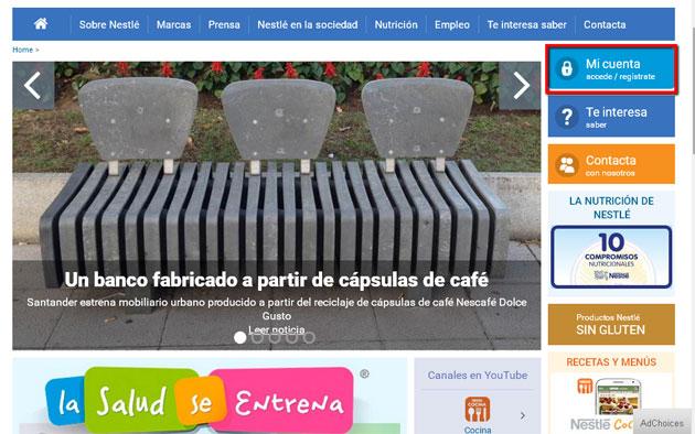 Web de Nestle