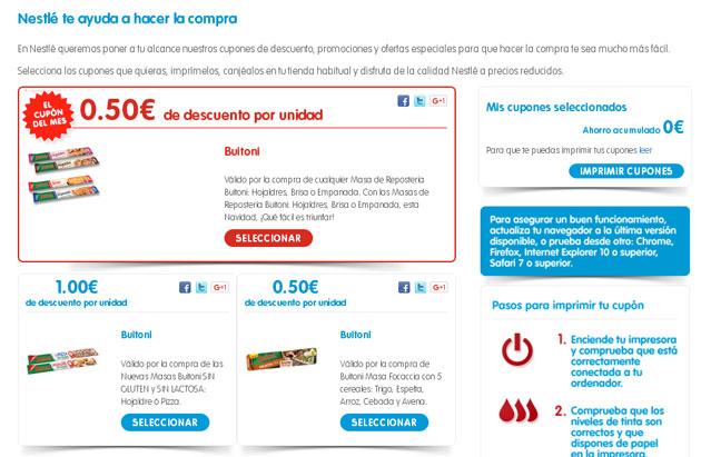 Estrategia de promociones de Nestle
