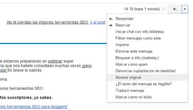 Comprueba en gmail tu registro SPF
