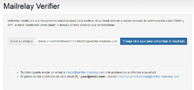 mailrelay verifier