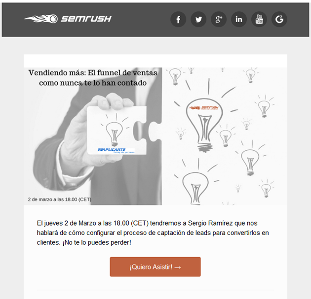 newsletter semrush