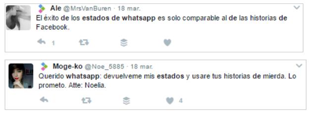 post de twitter sobre actualización whatsapp