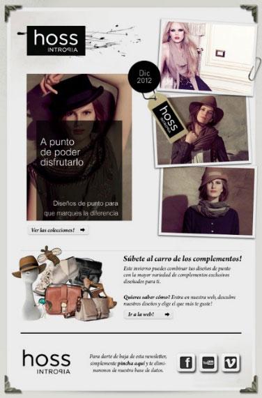 Ejemplo newsletter de moda