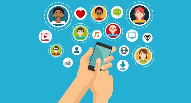 Compartir y seguir en redes sociales