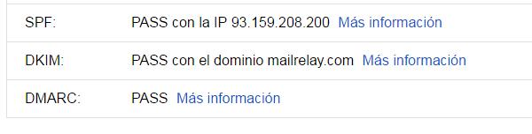 estado configuraciones emailing