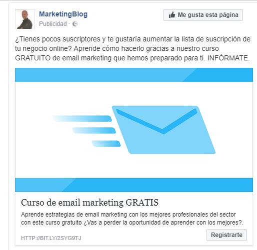captar suscriptores con facebook ads