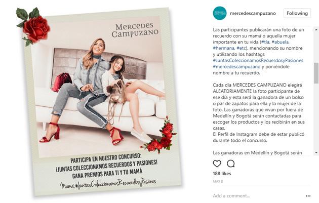 concurso instagram mercedes campuzano