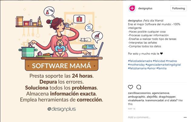 instagram día mama