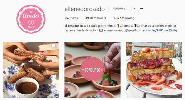el tenedor rosado instagram