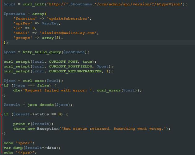 API Mailrelay