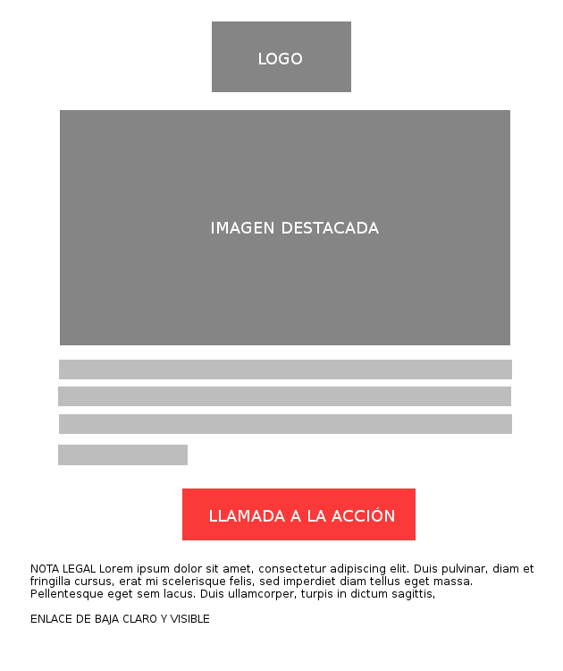 ejemplo de estructura de newsletter
