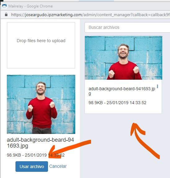 Insertar imágenes en el editor