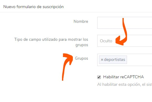 crear formulario de suscripción a la newsletter