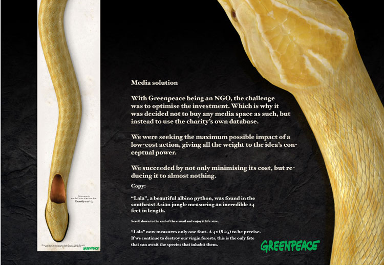La campaña Snake de Greenpeace