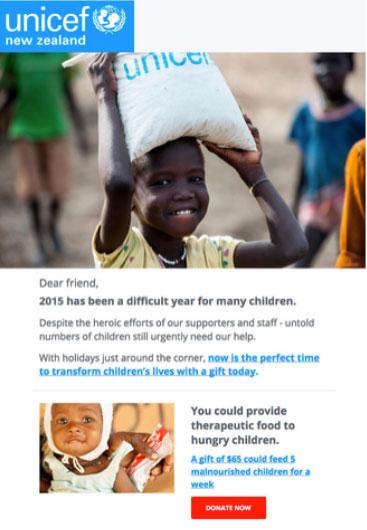 UNICEF utiliza el email marketing